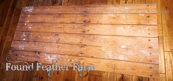 Fabulous Farmhouse Faux Wood Rug ~ Colorfast, Machine Washable and Non Skid
