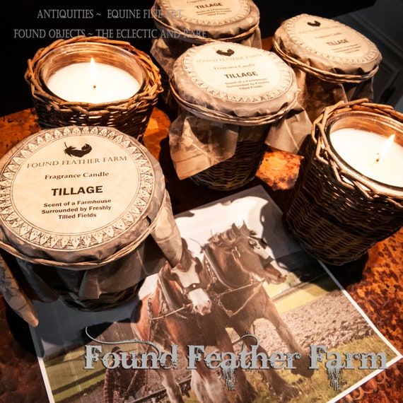 """Handmade Scented """"Tillage"""" Candle in a Willow Holder and the Fresh Fragrance of a Farmhouse with Freshly Tilled Fields"""