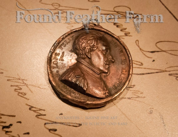 Handmade Soldered Copper Coin Pendant