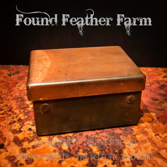Vintage Rusted Iron Cache Box
