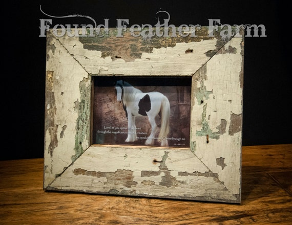 "Handmade Barnwood Photo Frame for a 5"" x 7"" Photo"