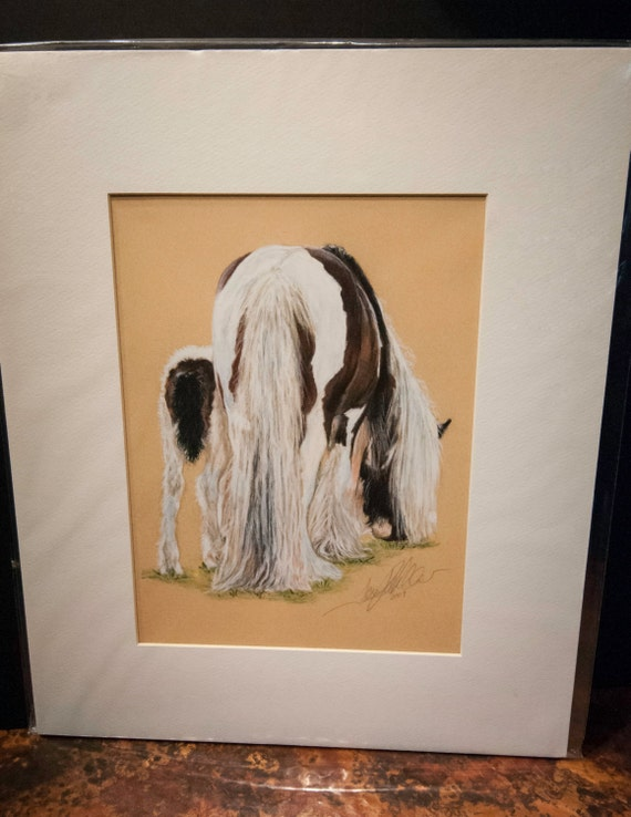 "Fine Art Giclee Print by Terry Kirkland Cook ""Gypsy Mare and Foal"""
