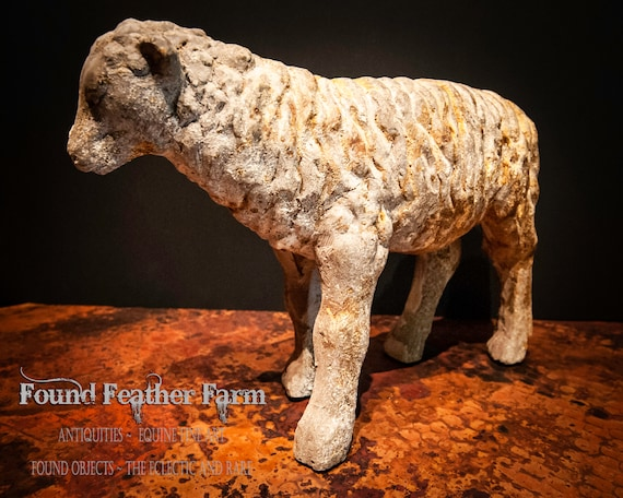 Cast Stone and Resin English Sheep