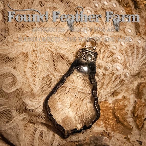Handmade Soldered Crystal Pendant, Bohemian Jewelry Pendant