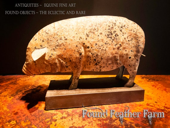 A Reproduction Folk Art Metal Pig