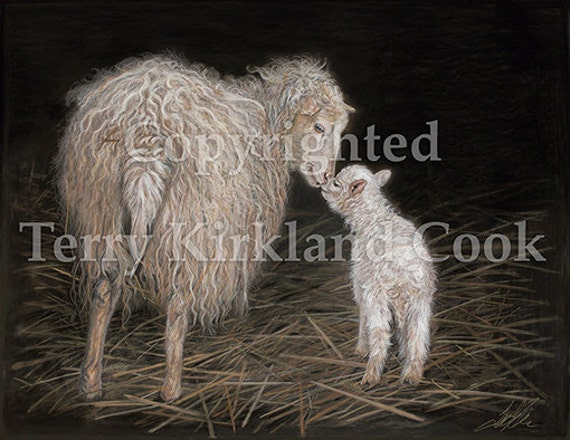 """Fine Art Giclee Print """"First Born"""" by Terry Kirkland Cook on Fine Art Paper or Canvas"""