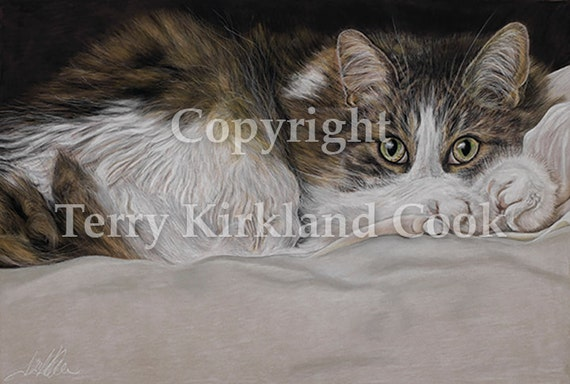 Feline Eyes ~ Fine Art Giclee Print of an Original Copyrighted Painting by Terry Kirkland Cook