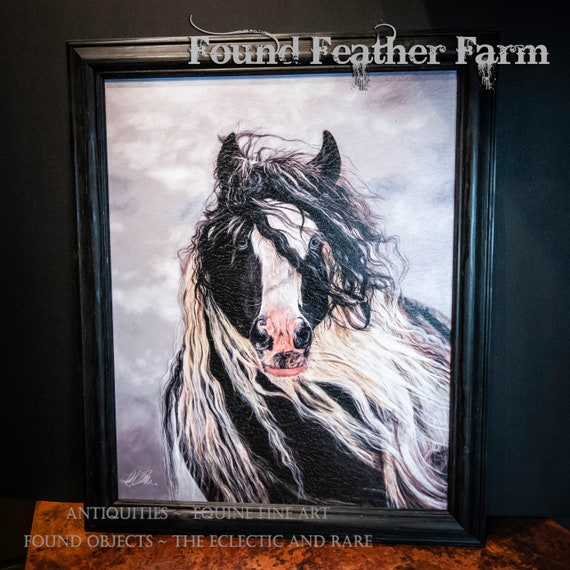 "Framed Textured Fine Art Giclee of an Original Painting Entitled ""Sapphire Wind"" by the Artist Terry Kirkland Cook"