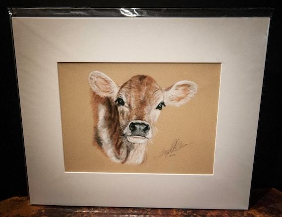 "Fine Art Giclee Print by Terry Kirkland Cook ""Red Calf"""
