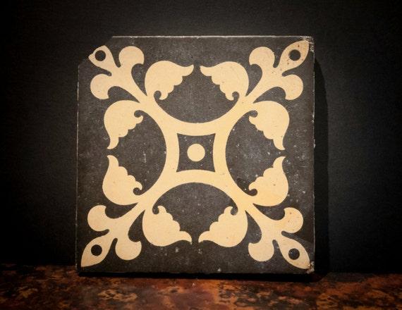 Antique English Tile Stone Trivet