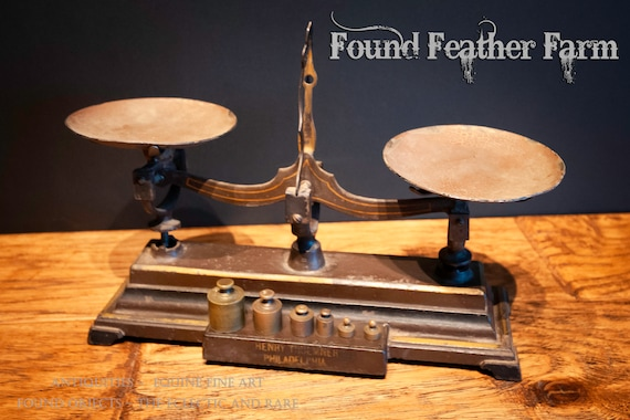 Antique Apothecary Scale with Measuring Weights Circa 1877