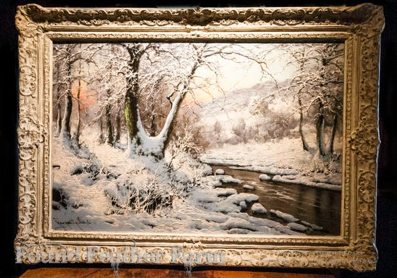 Original Antique Oil Painting on Linen by the Hungarian Artist Laszlo Neogrady
