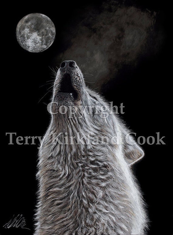 """Fine Art Giclee Print """"Moon Song"""" by Terry Kirkland Cook on Fine Art Paper or Canvas"""