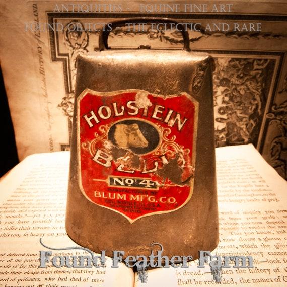 Antique Holstein Cow Bell #4