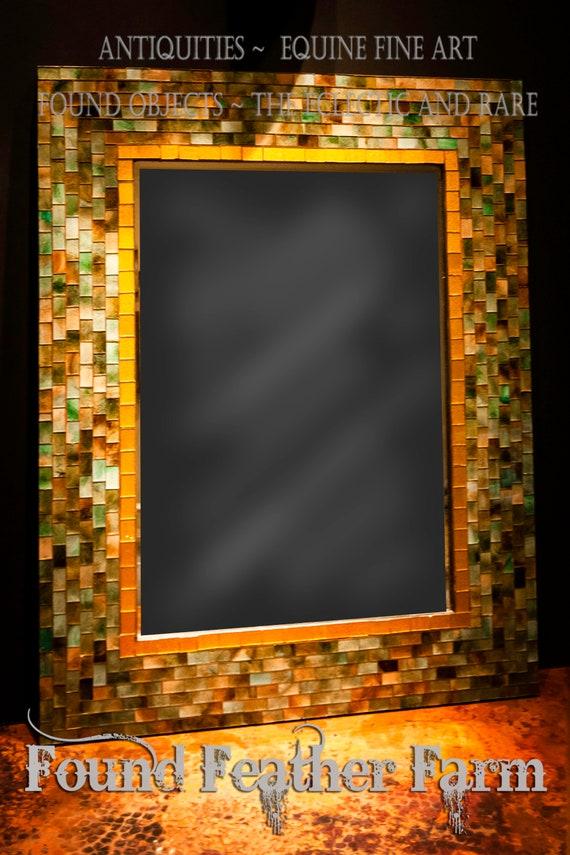 Handmade Vintage Glass Mosaic Wall Mirror