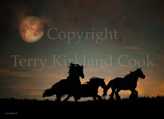 "Fine Art Giclee Print ""The Harvest Moon"" by Terry Kirkland Cook on Fine Art Paper or Canvas"
