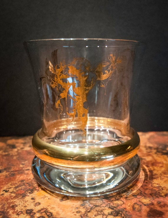 Wonderful Cherub Cordial Glass with 24K Gold Detailed Cherubs