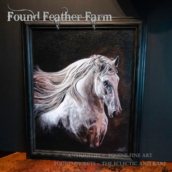 "Framed Textured Fine Art Giclee of an Original Painting Entitled ""Windswept"" by the Artist Terry Kirkland Cook"