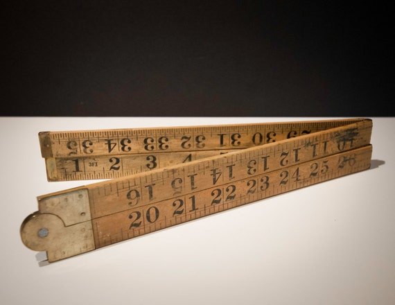 "Antique 36"" Wooden Carpenter's Measure"