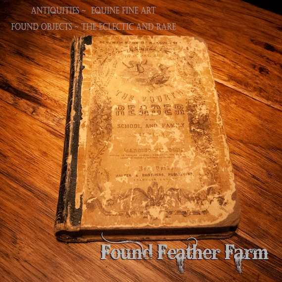 Harper Fourth Reader School Book Circa late 1800's
