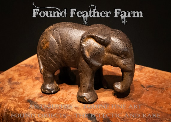 Clever Iron Elephant Paperweight or Statue
