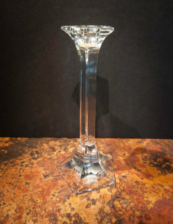 Vintage Small Lead Crystal Candlestick