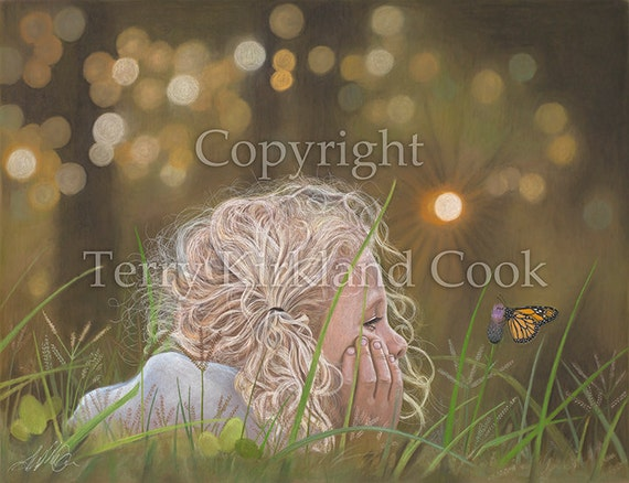 The Butterfly ~ Fine Art Giclee Print of an Original Copyrighted Painting by Terry Kirkland Cook