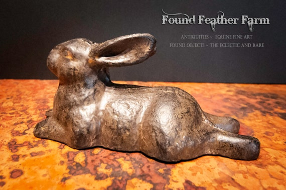 Vintage Cast Iron French Hare Paperweight