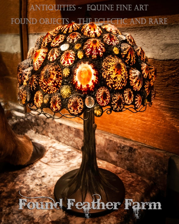 Gorgeous One of a Kind Seashell Lamp Designed and Made Entirely by Hand
