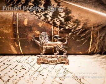 Fabulous World War I Antique Herfordshire British Badge Pin