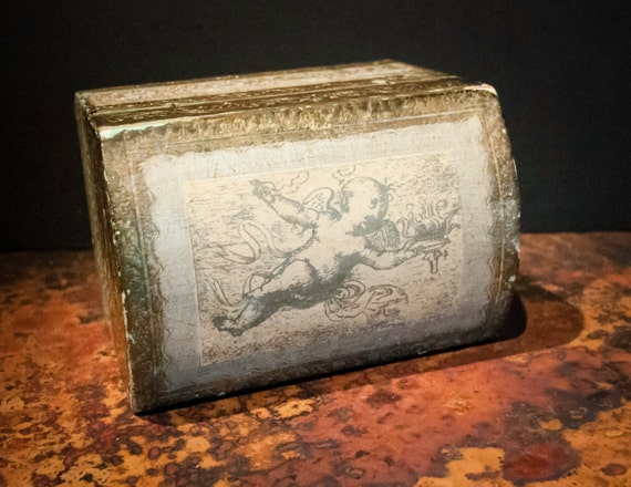 Handmade Antique Gilt Cherub Box