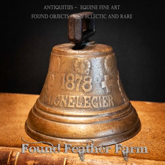 Antique Swiss 1873 Chiantel Fondeur Saignelegier Solid Bronze Cow Bell