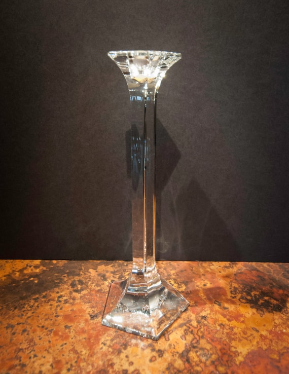 Vintage Medium Tall Lead Crystal Candlestick