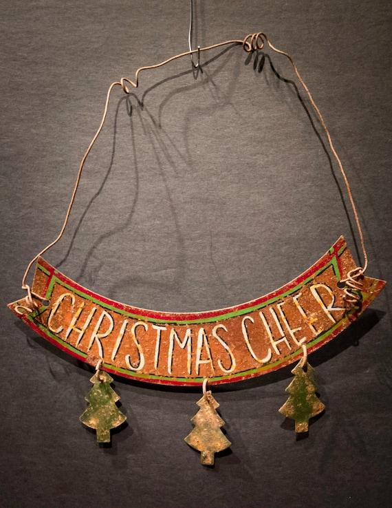 Tin Christmas Cheer Holiday Ornament