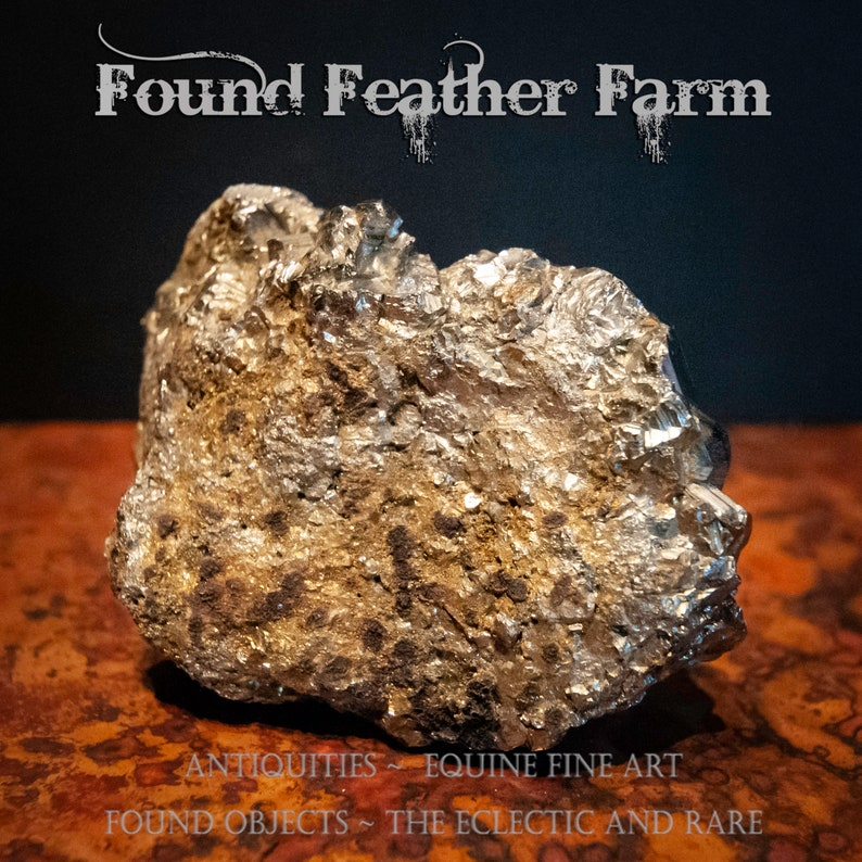 A Medium Specimen of a Pyrite or Fool/'s Gold Rock Formation