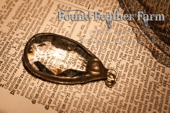 Small Soldered Clear Crystal Pendant