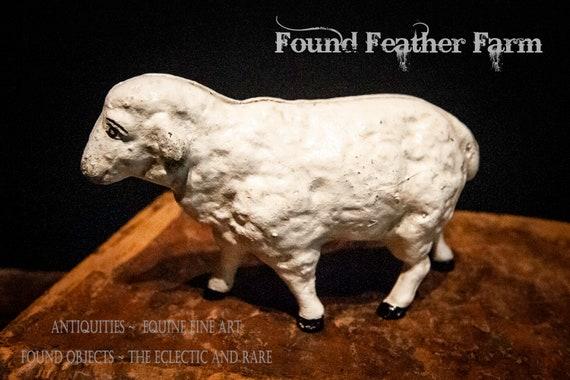 Hand Painted Vintage Reproduction Iron Sheep Bank