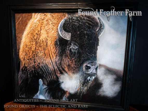 "Framed Textured Fine Art Giclee of an Original Painting Entitled ""The Thunder Beast"" by the Artist Terry Kirkland Cook"