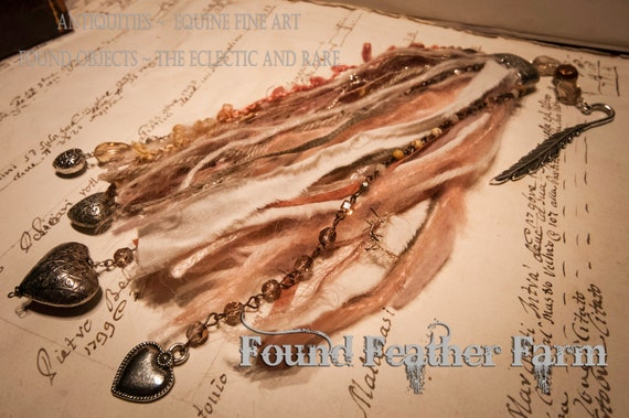 One of a Kind Handmade Bookmark Ribbon Tassel Made From Collected Ribbons and Charms
