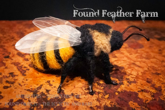 Handmade One of a Kind Needle Felted Bumble Bee