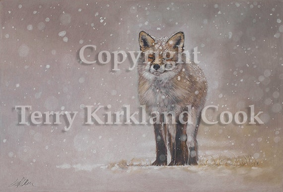 The Chill of Winter ~ Fine Art Giclee Print of an Original Copyrighted Painting by Terry Kirkland Cook