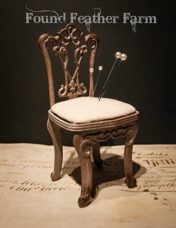 Vintage Metal Chair Pin Cushion