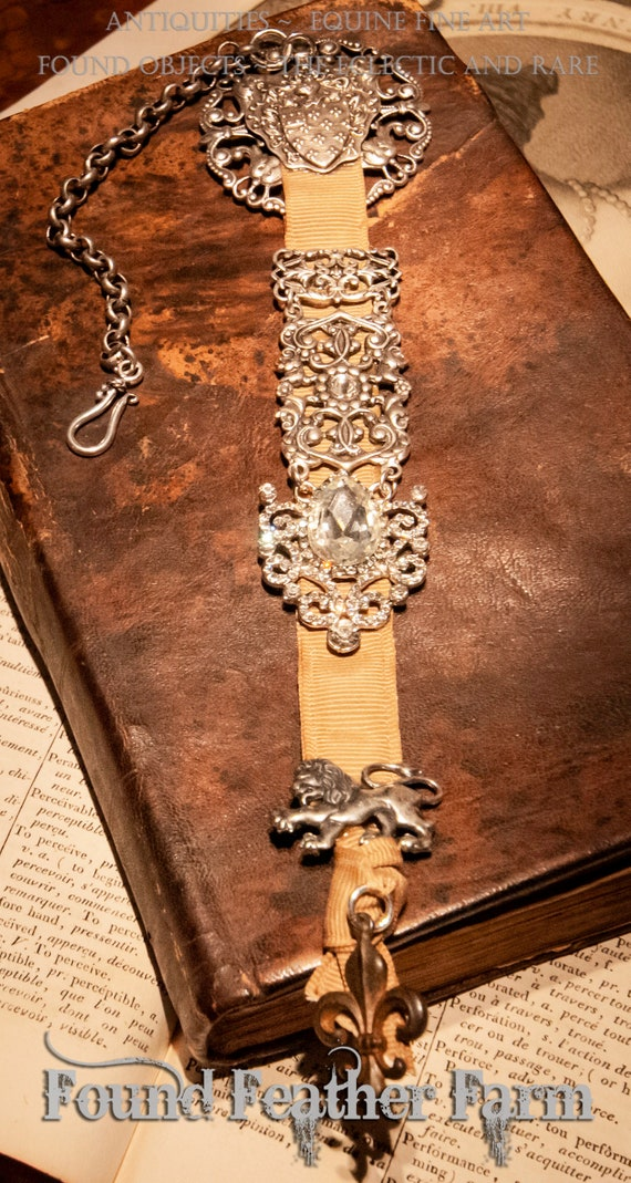 Stunning Handmade Antique Reproduction Equipage Bookmark or Watch Fob