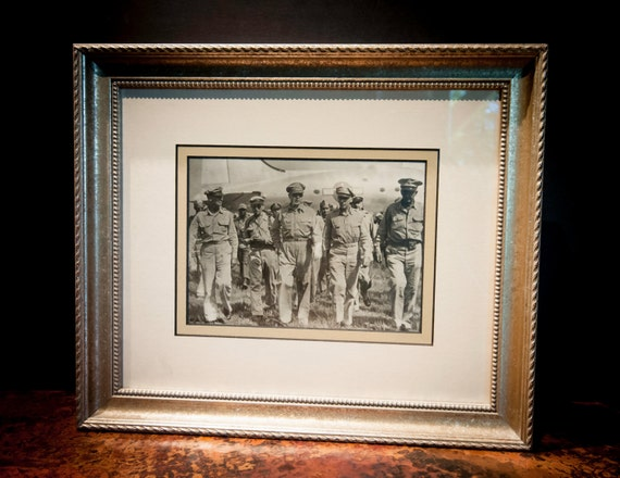 Framed Authentic Antique Photograph of General Douglas MacArthur