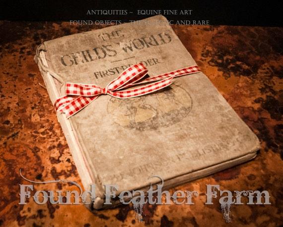 "Antique Book ""The Child's World ~ First Reader""  Circa 1917"