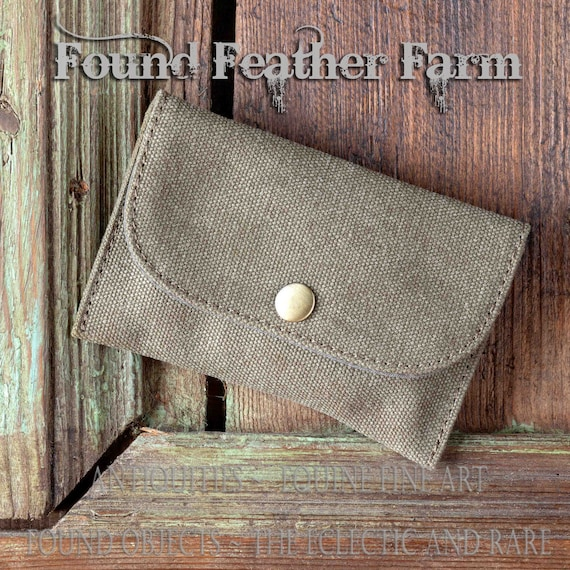 Little Essential Khaki Twill Snap Pouch