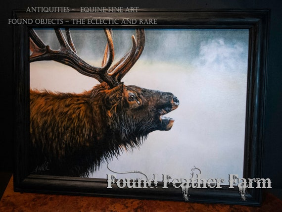 "Framed Textured Fine Art Giclee of an Original Painting Entitled ""The Monarch"" by The Artist Terry Kirkland Cook"
