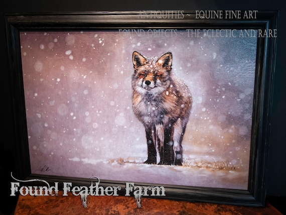 "Framed Textured Fine Art Giclee of an Original Painting Entitled ""The Chill of Winter"" by the Artist Terry Kirkland Cook"