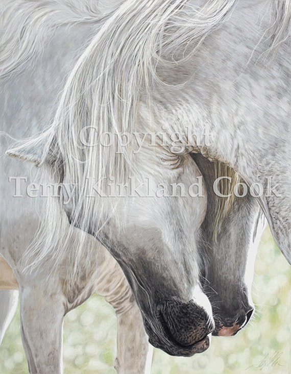 """Fine Art Giclee Print """"The Courtship"""" by Terry Kirkland Cook on Fine Art Paper or Canvas"""