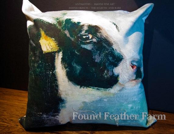 On Sale! ~ Handmade Cotton Holstein Cow Pillow